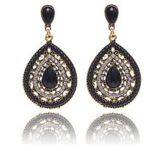 Jewelry - Black Beads & Rhinestones Dangle Earrings